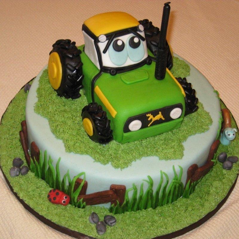 Торт трактор фото - photoicar.ru
